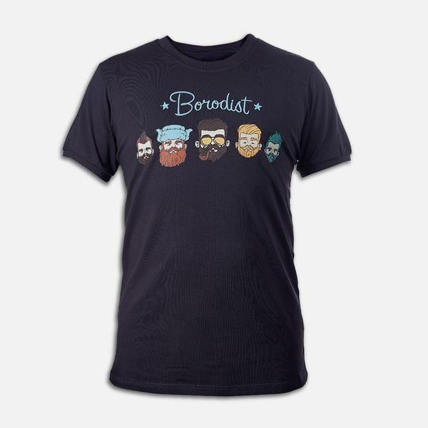 Футболка Borodist 5 Beards, купить в интернет-магазине Brutalbeard