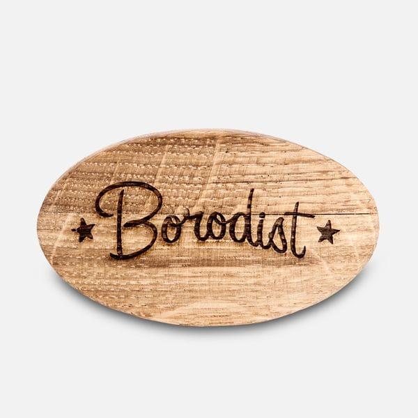 Щетка для бороды Borodist из натурального ворса кабана, фото 3