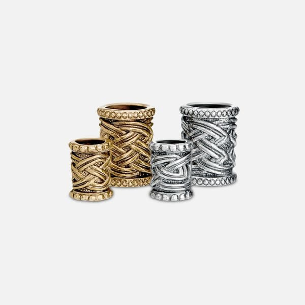 Кольца для бороды, бронза или серебро Borodist, купить в интернет-магазине Brutalbeard