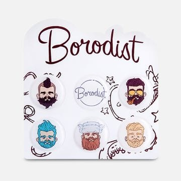 Стильные наклейки с бородачами Borodist