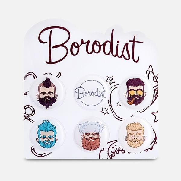 Стильные наклейки с бородачами Borodist, купить в интернет-магазине Brutalbeard