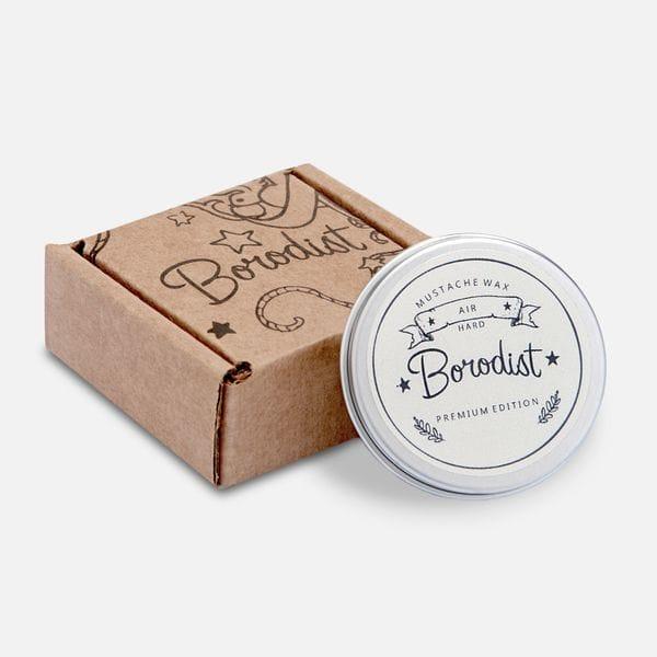Премиальный воск для усов Borodist Premium Air средней фиксации, фото 1