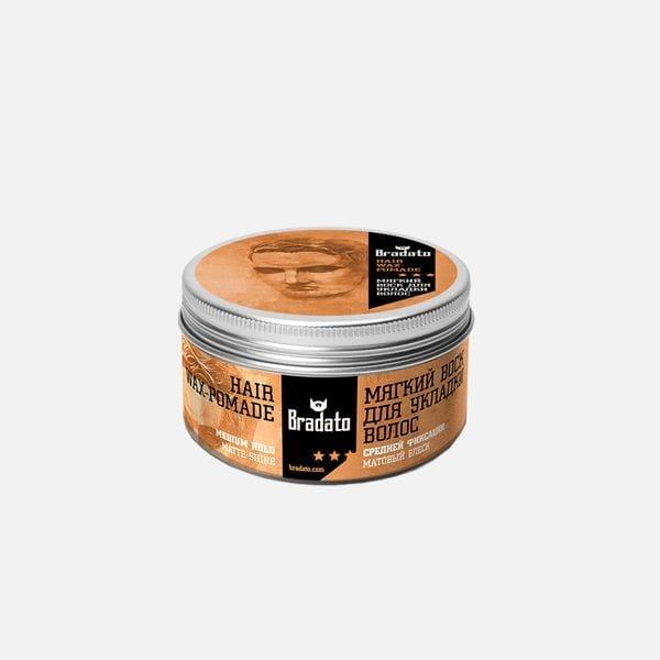 Бриолин, помада, воск Hair Wax-Pomade, производитель Bradato - в интернет-магазине Brutalbeard