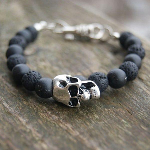 Браслет с черепом и камня, купить в интернет-магазине Brutalbeard