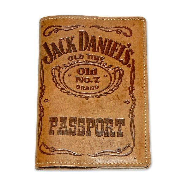 Обложка для паспорта Jack Daniels коричневая, купить в интернет-магазине Brutalbeard