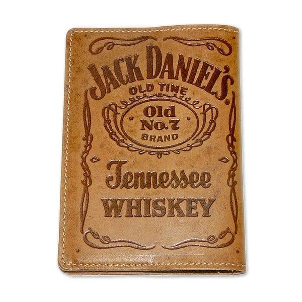 Обложка для паспорта Jack Daniels коричневая, фото 2