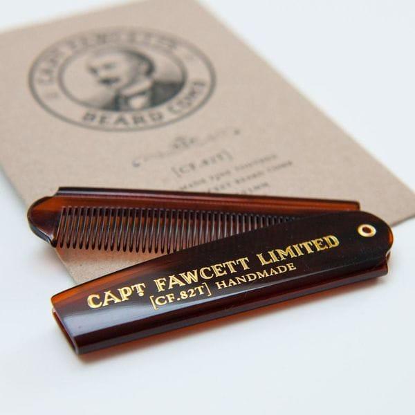 Captain Fawcett Folding Pocket Beard Comb (CF.82T), купить в интернет-магазине Brutalbeard