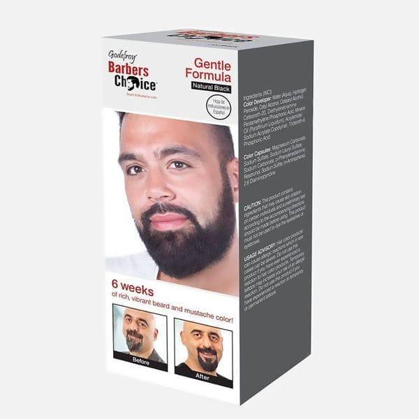 Краска для бороды натурально черного цвета Godefroy Barbers Choice Natural Black, купить в интернет-магазине Brutalbeard