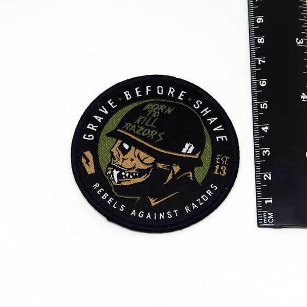 Нашивка GBS Born To Kill Razors Patch, купить в интернет-магазине Brutalbeard