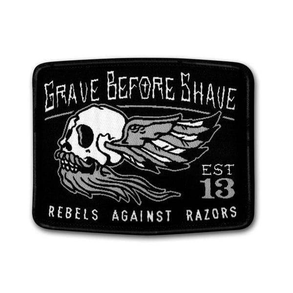 Нашивка GBS Rebels Against Razors patch, купить в интернет-магазине Brutalbeard