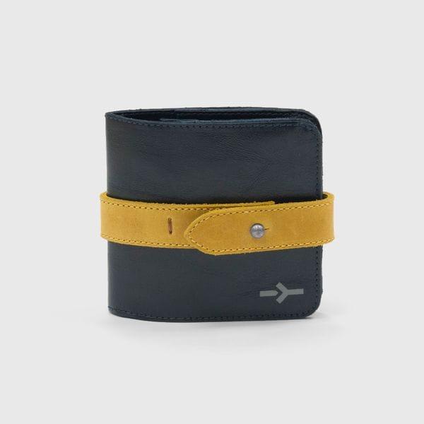 Портмоне IGOR YORK сине-желтое из натуральной кожи, купить в интернет-магазине Brutalbeard
