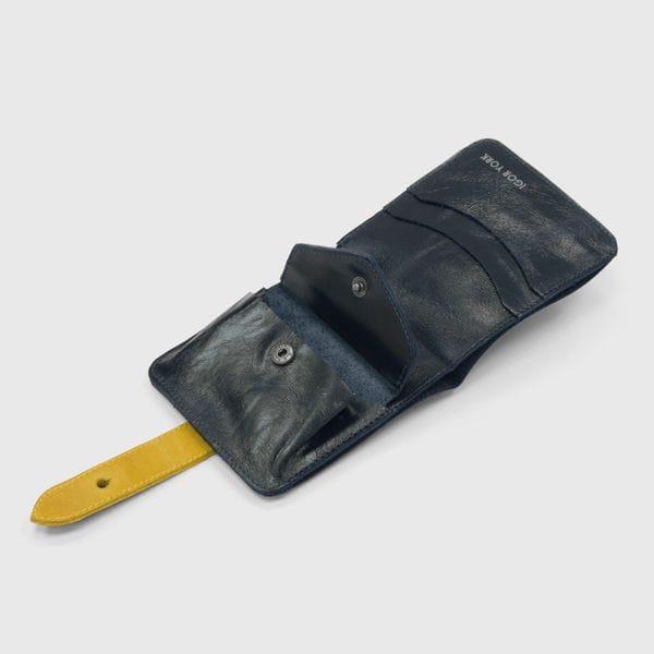 Портмоне IGOR YORK сине-желтое из натуральной кожи, фото 2