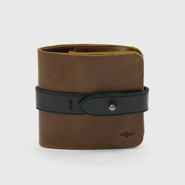 Портмоне IGOR YORK коричнево-черный из натуральной кожи, купить в интернет-магазине Brutalbeard
