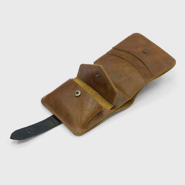 Портмоне IGOR YORK коричнево-черный из натуральной кожи, фото 1