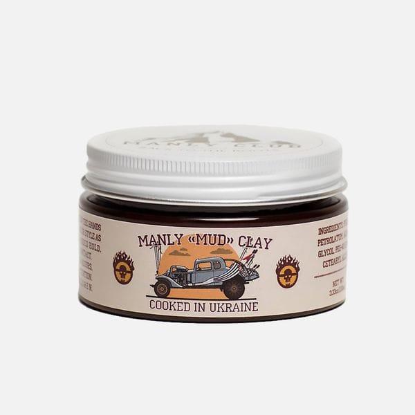 Глина для укладки волос Manly Mud Clay на водной основе, купить в интернет-магазине Brutalbeard