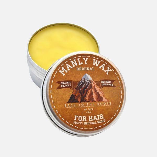 Воск для укладки волос Manly Wax Original средней фиксации, купить в интернет-магазине Brutalbeard