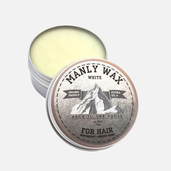 Воск для укладки волос Manly Wax White сильной фиксации, купить в интернет-магазине Brutalbeard