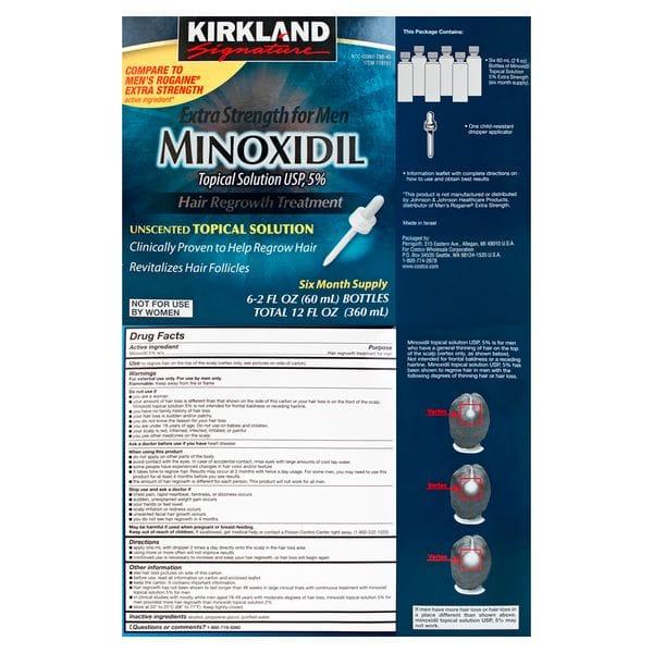 Лосьон для роста волос Kirkland Minoxidil 5% (6мес.) полный курс, фото 2