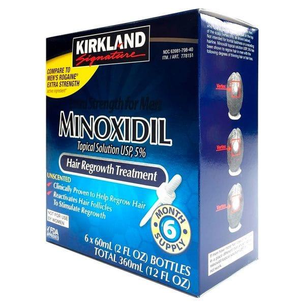Лосьон для роста волос Kirkland Minoxidil 5% (6мес.) полный курс, фото 1