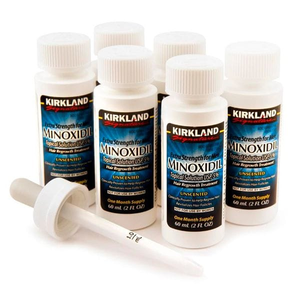 Лосьон для роста волос Kirkland Minoxidil 5% (6мес.) полный курс, фото 4