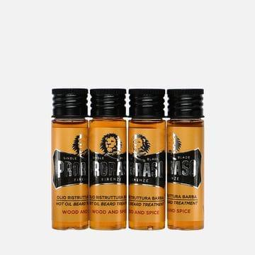 Горячее масло для бороды Proraso Wood & Spice, 4 шт по 17 мл