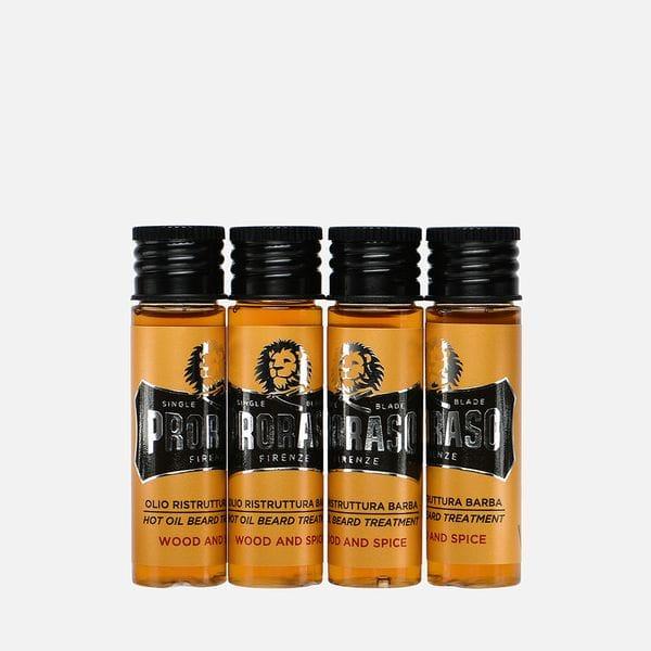 Горячее масло для бороды Proraso Wood & Spice, 4 шт по 17 мл, купить в интернет-магазине Brutalbeard