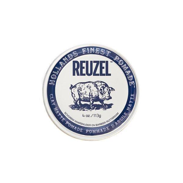 Глина для укладки Reuzel Clay Matte Pomade сильной фиксации, 113 гр, купить в интернет-магазине Brutalbeard