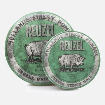Помада для волос Reuzel Green Medium Hold Grease с регулируемой фиксацией