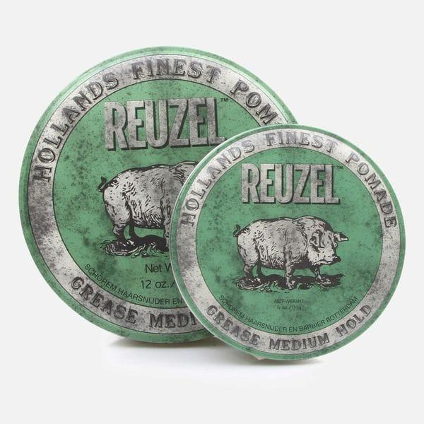 Помада для волос Reuzel Green Medium Hold Grease с регулируемой фиксацией, купить в интернет-магазине Brutalbeard
