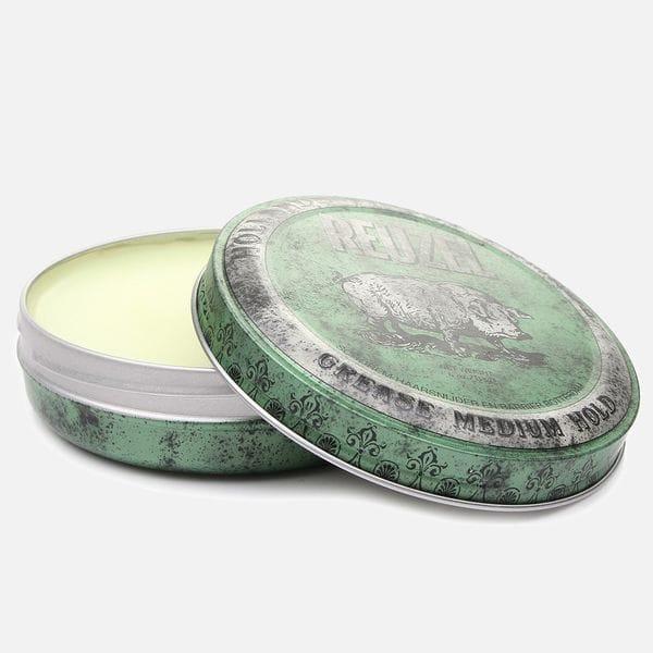 Помада для волос Reuzel Green Medium Hold Grease с регулируемой фиксацией, фото 1