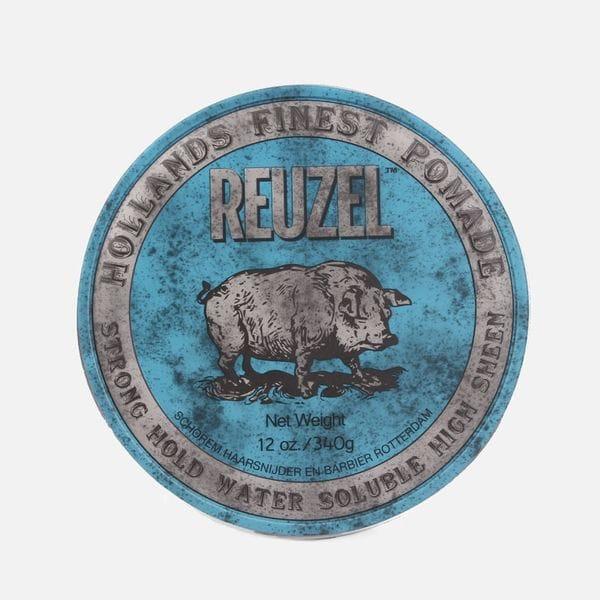 Синяя помада Reuzel strong hold high sheen pomade сильной фиксации, фото 1