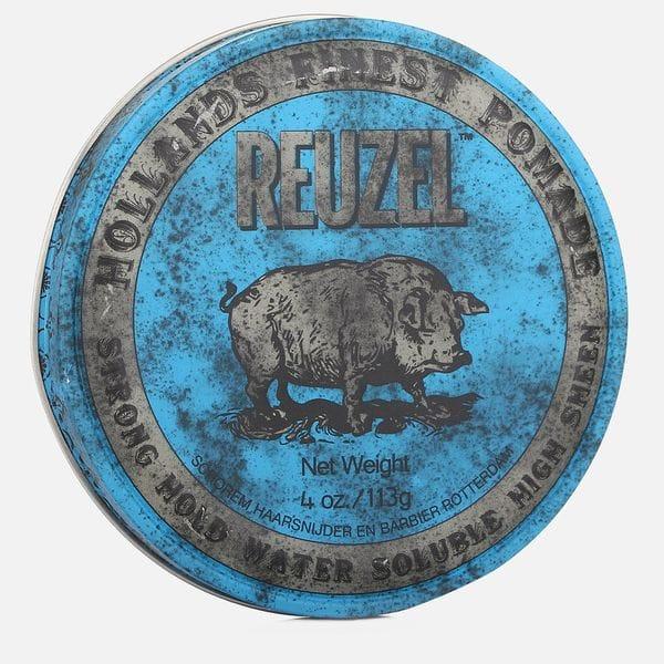 Синяя помада Reuzel strong hold high sheen pomade сильной фиксации, купить в интернет-магазине Brutalbeard