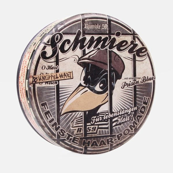 Помада для волос Schmiere - Special Edition rock-hard Prison Blues сильной фиксации, купить в интернет-магазине Brutalbeard
