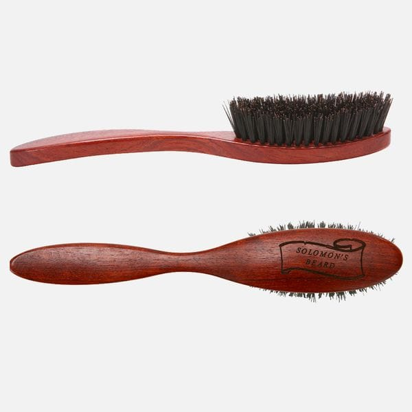 Щетка для бороды Solomon's beard Beard Brush Handle с ручкой, купить в интернет-магазине Brutalbeard