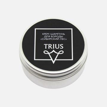 Крем-шампунь для бороды и усов Trius c ароматом Сибирский лес