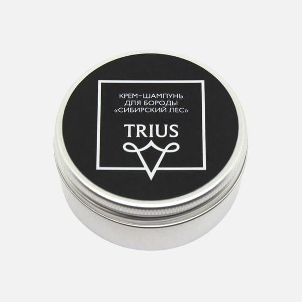 Крем-шампунь для бороды и усов Trius c ароматом Сибирский лес, купить в интернет-магазине Brutalbeard