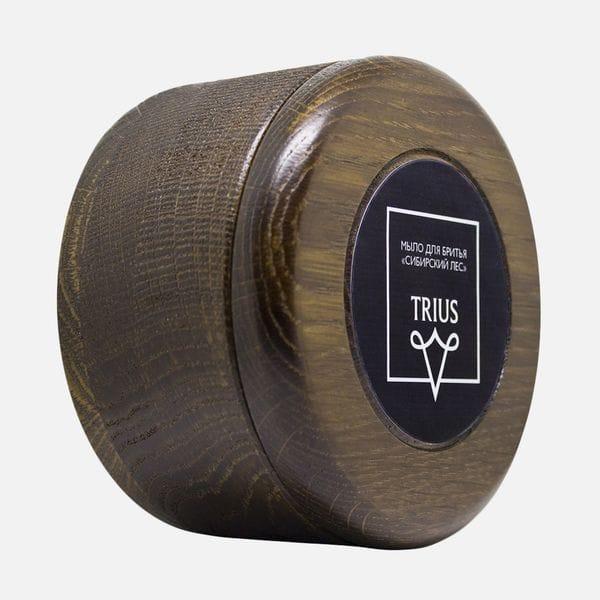 Мыло для бритья Trius аромат сибирский лес в темной чаше, фото 3
