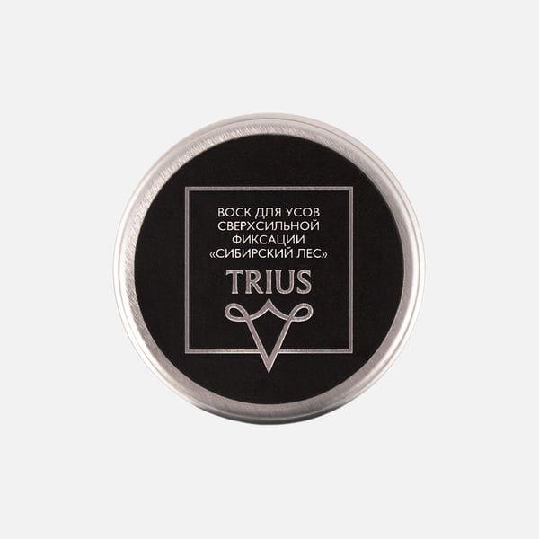 Воск для усов Trius Сверхсильной фиксации с ароматом сибирский лес, фото 1
