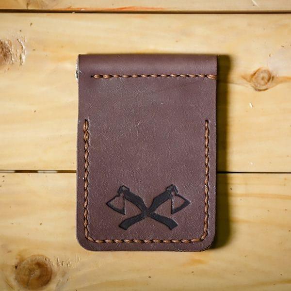 Кожаный зажим для денег Varvar, коричневый, фото 1