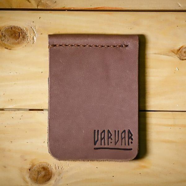 Кожаный зажим для денег Varvar, светло-коричневый, купить в интернет-магазине Brutalbeard