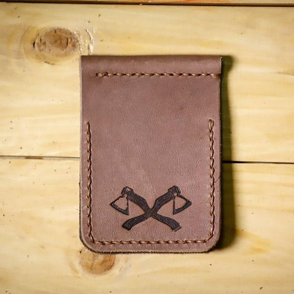 Кожаный зажим для денег Varvar, светло-коричневый, фото 2