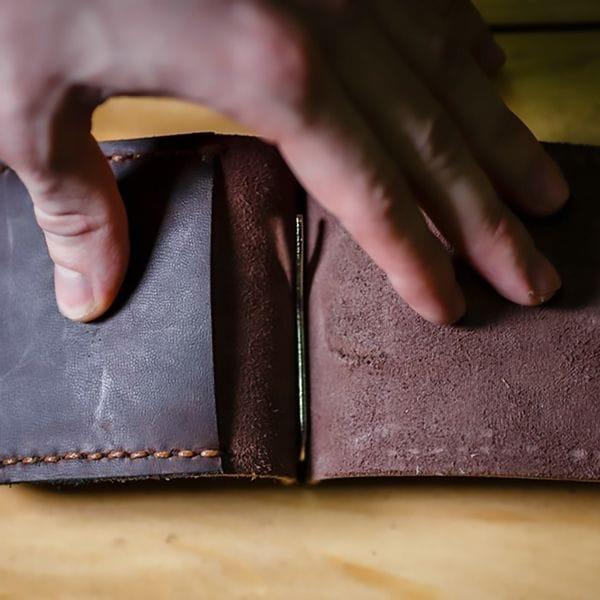 Кожаный зажим для денег Varvar, светло-коричневый, фото 1