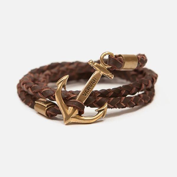 Тонкий коричневый браслет Varvar The great traveller wicker round(brown), купить в интернет-магазине Brutalbeard